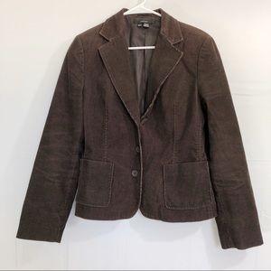 Zara Brown Jacket Blazer Corduroy Size XL